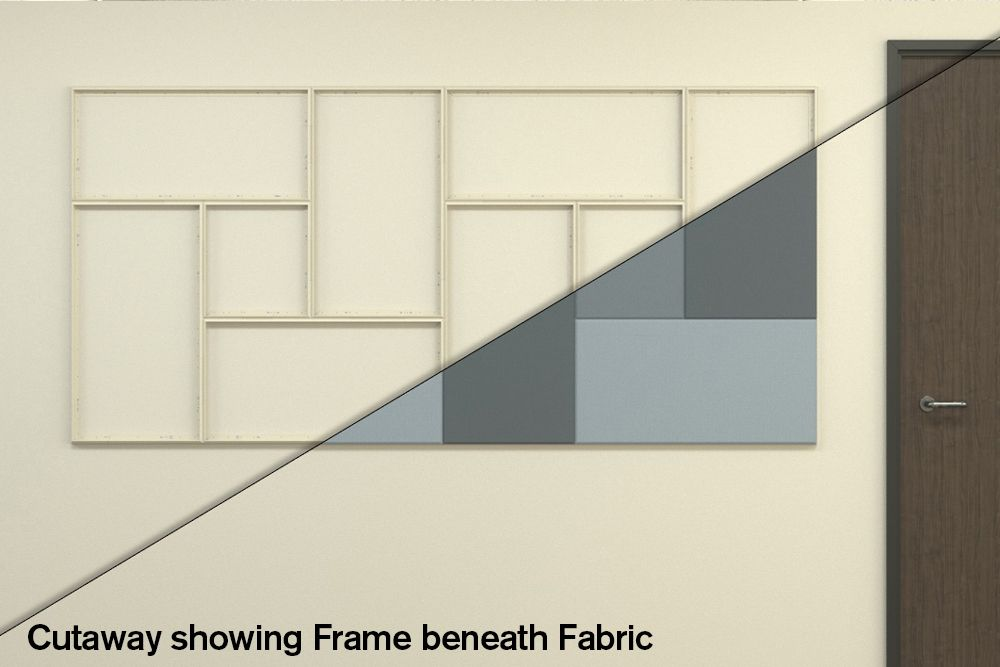 fabricmate panels in a pattern
