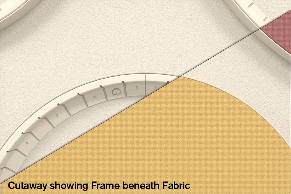 flex-frame with yellow fabric
